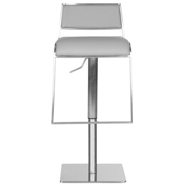 FOX Adjustable Height Swivel Bar Stool by Safavieh