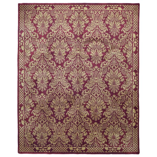 One-of-a-Kind Bazartete Oriental Hand-Knotted Wool Red/Tan Area Rug by Isabelline