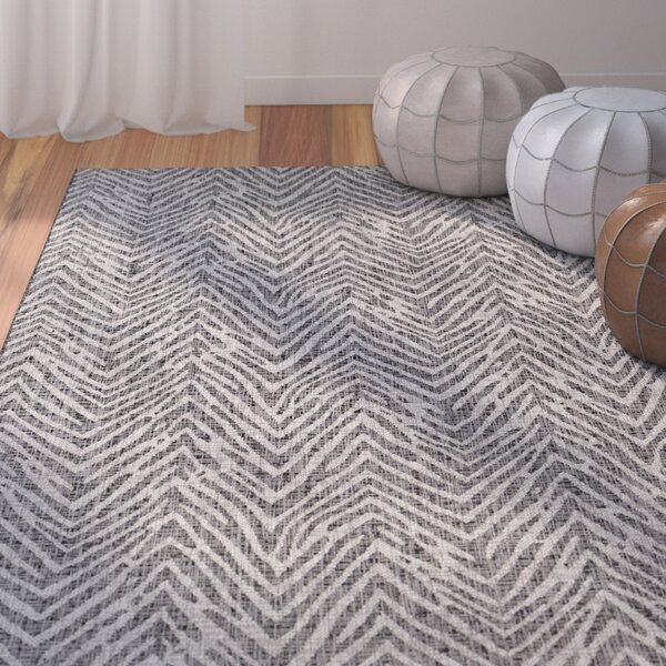 Summey Gray Indoor/Outdoor Area Rug by Mistana