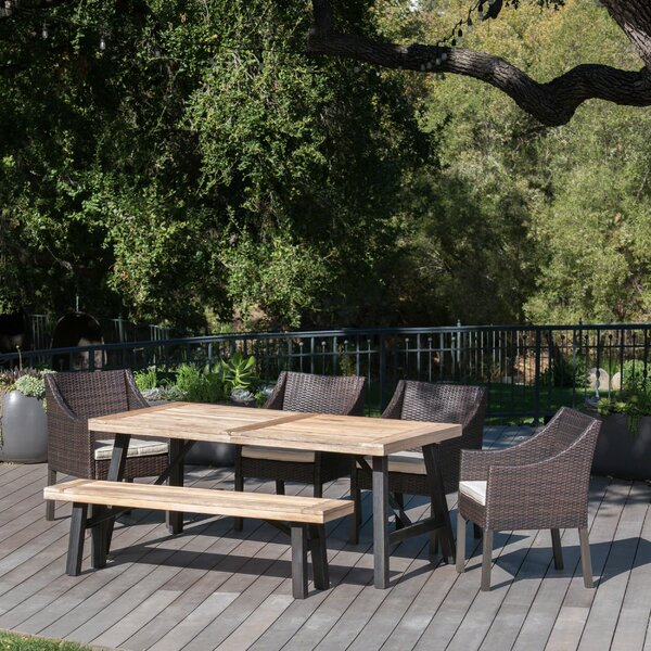 Aranson Outdoor 6 Piece Dining Set with Cushions by Brayden Studio