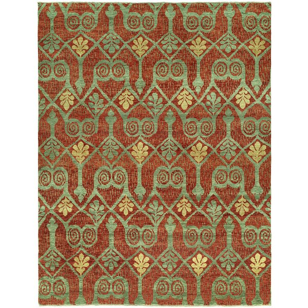 Proxima Hand Knotted Wool Red/Green Area Rug