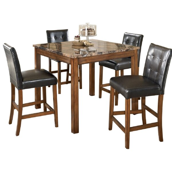 Marcy 5 Piece Counter Height Dining Set by Canora Grey Canora Grey