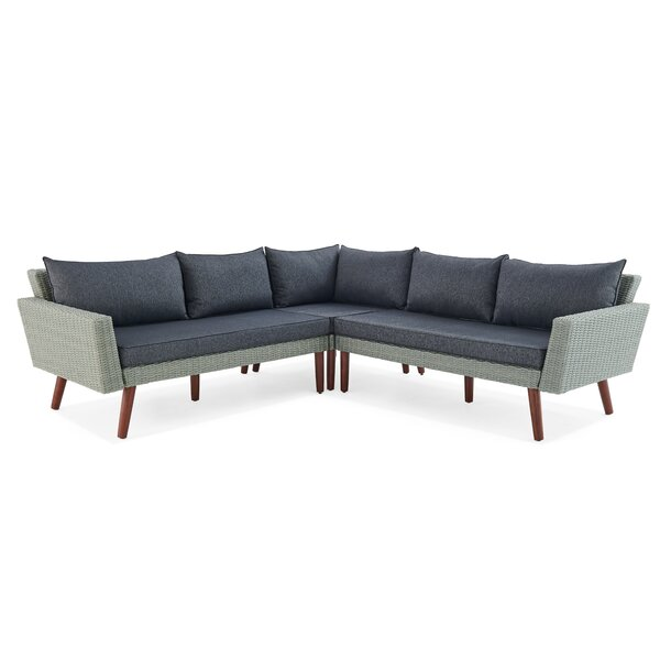 Albany 3 Piece Complete Patio Set with Cushions by Alaterre