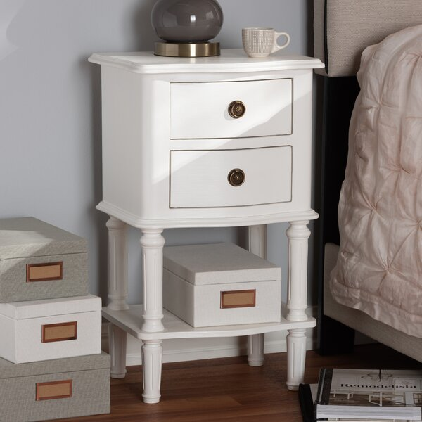 Nuttall 2 Drawer Nightstand by Alcott Hill