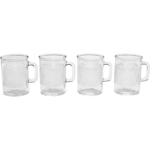 Canned 17 oz. Handled Mugs (Set of 4) by Circle Glass