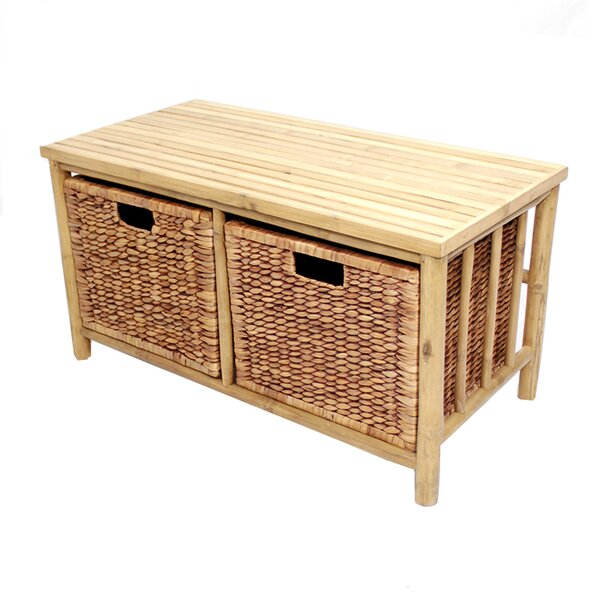 Elim Bamboo Storage Bench by Bay Isle Home