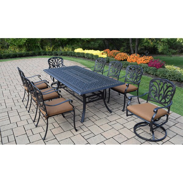 Bosch Outdoor 9 Piece Dining Set with Cushions by Darby Home Co