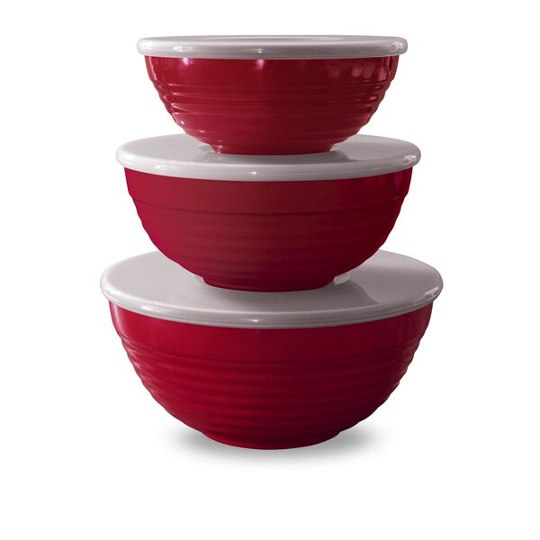 Fewell Melamine Lidded 3 Container Food Storage Set by Red Barrel Studio