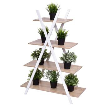 Arlmont Co Lopez Triangular Multi Tiered Plant Stand Wayfair