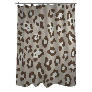 Leopard Print Nougat Shower Curtain