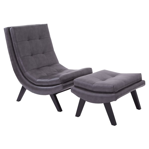 Woodbine Slipper Chair and Ottoman by Wade Logan