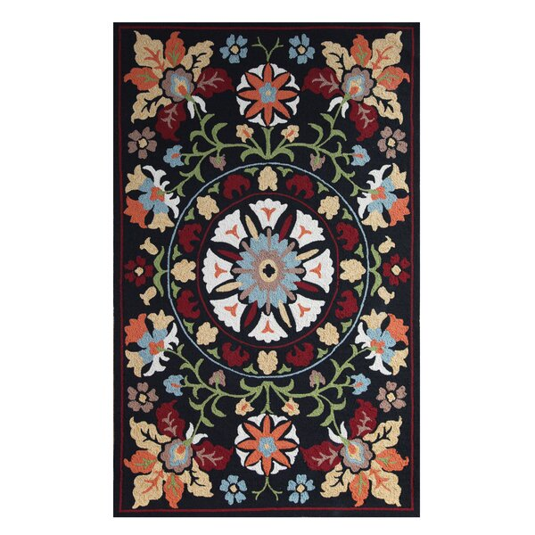 Khiva Black Indoor/Outdoor Area Rug by Padmas Plantation
