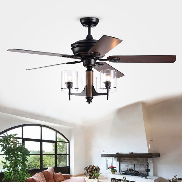 52 Poirier 5 Blade Ceiling Fan with Remote by Gracie Oaks