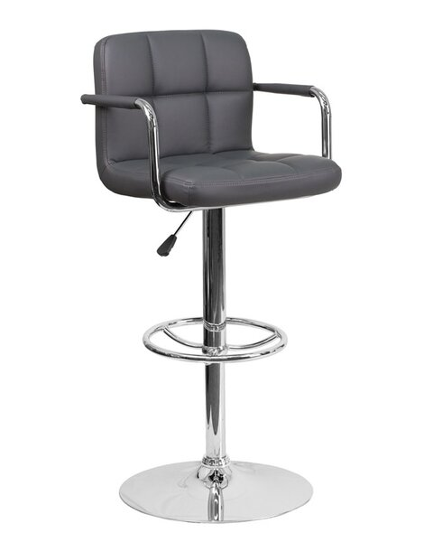 Eamor Adjustable Height Swivel Bar Stool By Orren Ellis