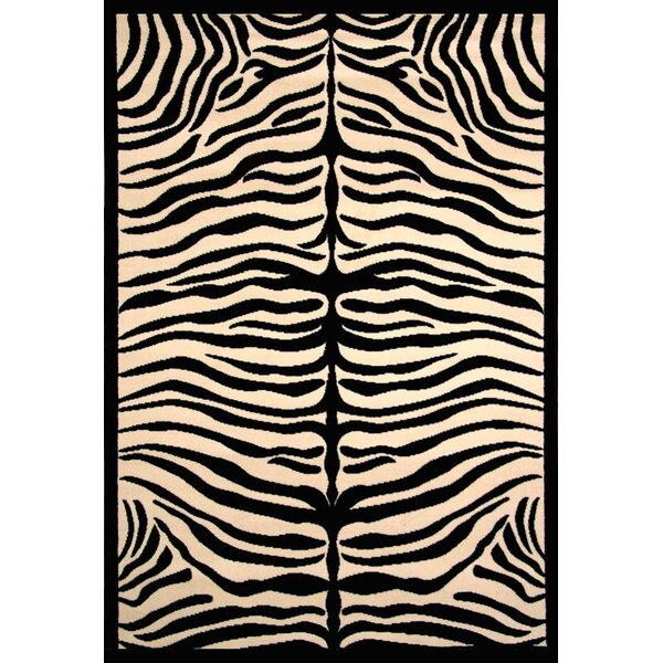 Arber Black/Ivory Area Rug by Bloomsbury Market