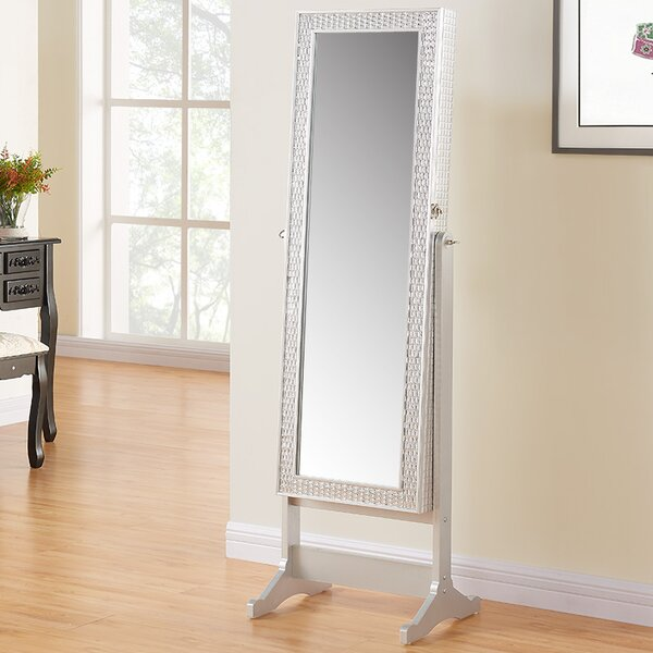 Nave Jewelry Armoire with Mirror by House of Hampton House of Hampton