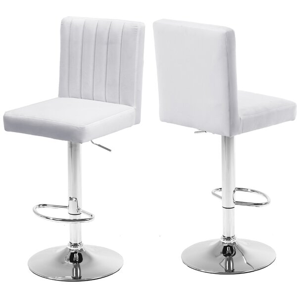 Amaryllis Adjustable Height Bar Stool (Set of 2) by Latitude Run