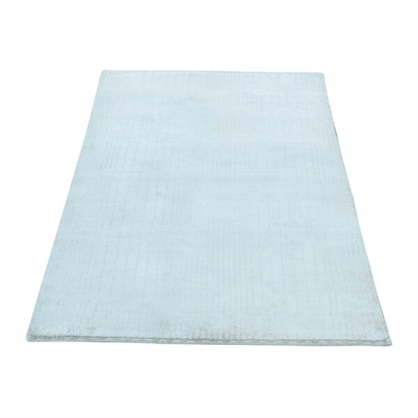 One-of-a-Kind Nepali Tone-on-Tone Hand-Knotted Ivory Area Rug by Ophelia & Co.