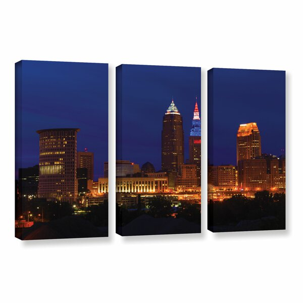 Cleveland 5 by Cody York 3 Piece Photographic Print Wrapped Canvas Set by ArtWall