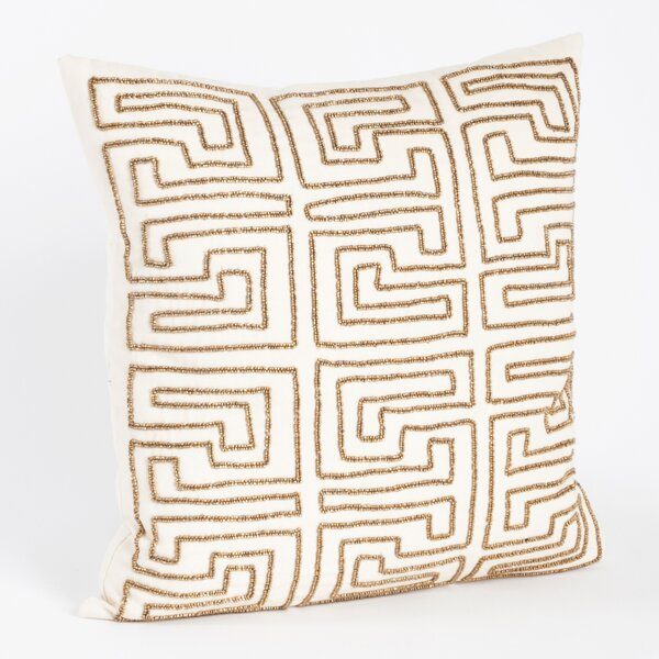 Larissa Maize Design Cotton Throw Pillow by Saro