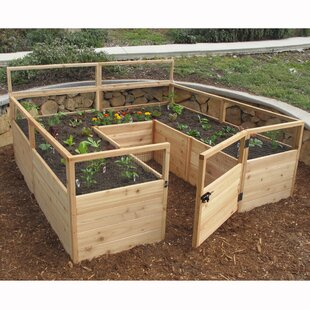 Superieur 8 Ft X 8 Ft Raised Cedar Garden Bed With Deer Fence Kit