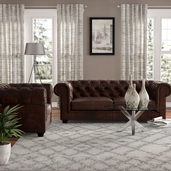 Harlem 2 Piece Leather Living Room Set by Trent Austin Design