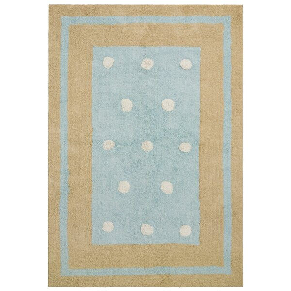 Carousel Blue Border Dots Area Rug by St. Croix