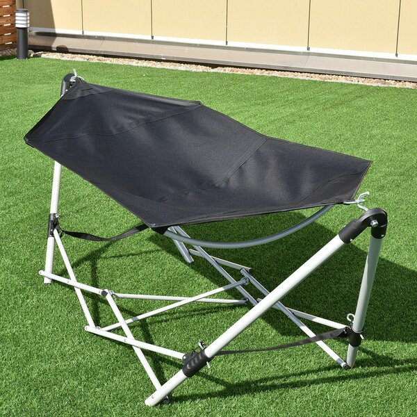 Avondale Portable Folding Steel Frame Camping Hammock with Stand by Freeport Park