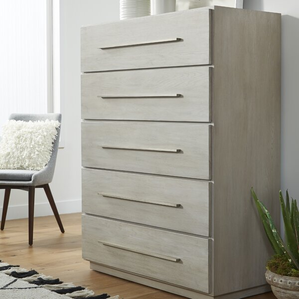 Monatuk 5 Drawer Chest by Wrought Studio