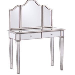makeup vanity with chair. Kaila Mirrored Vanity Bedroom  Makeup Vanities Joss Main
