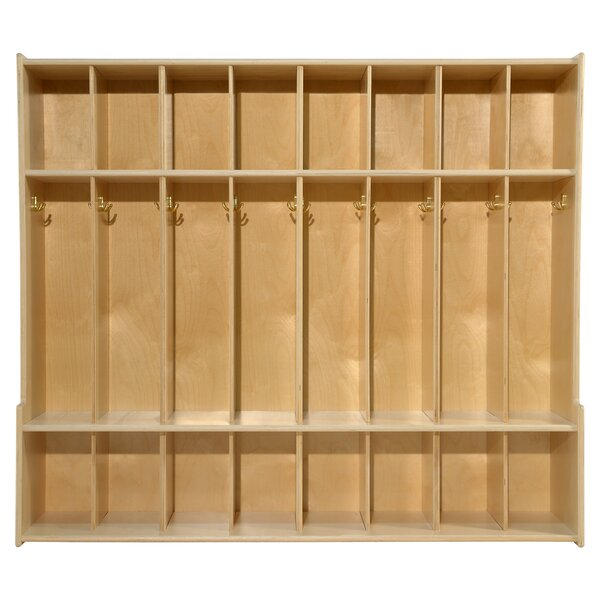 Clarendon 8 Section Coat Locker by Symple Stuff