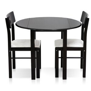 cosdrop leaf solid wood 3 piece dining set - Drop Leaf Kitchen Table