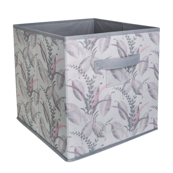 Storage Fabric Cube in Palm Leaf by Laura Ashley Home