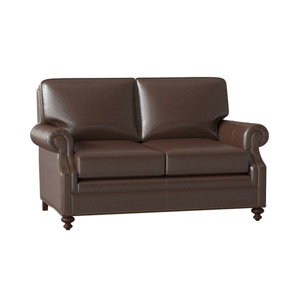 West Haven Leather Loveseat By Bradington-Young