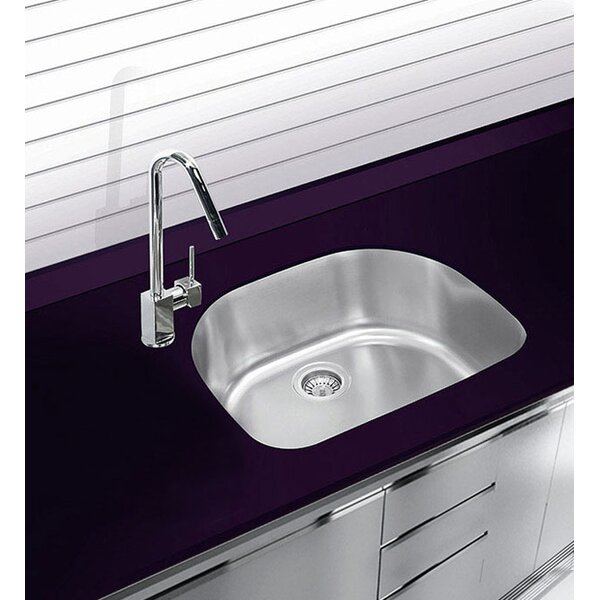 22.75 L x 20.5 W Undermount Single Bowl Stainless Steel Kitchen Sink by Ukinox