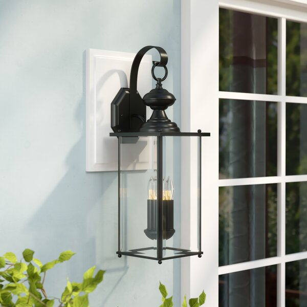 Amberley 2-Light Outdoor Wall lantern by Three Posts