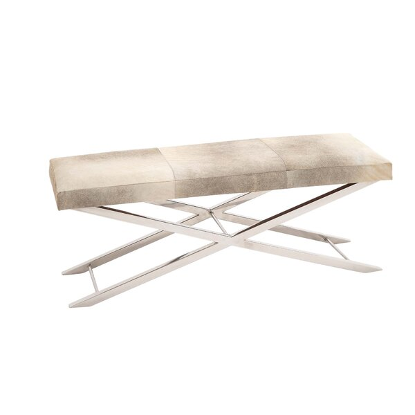 Everman Modern Rectangular Metal Bench by Orren Ellis Orren Ellis