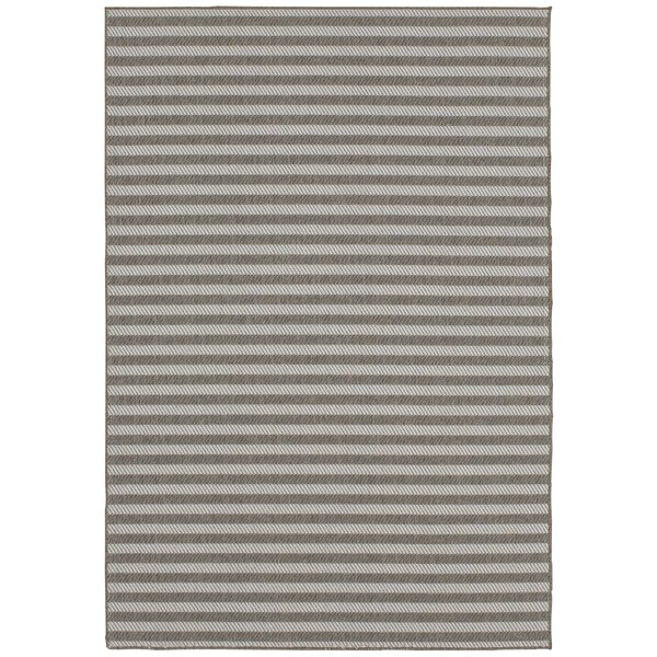 Lenaghan Indoor/Outdoor Silver Area Rug by Ivy Bronx