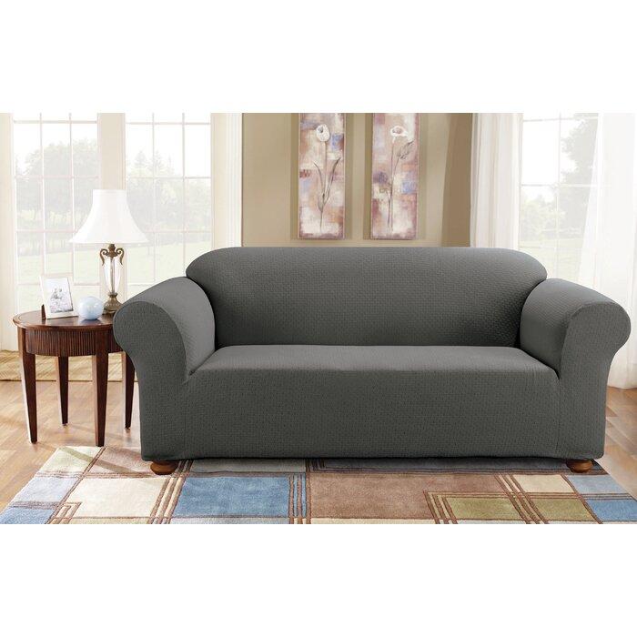 Simple Stretch Subway Box Cushion Sofa Slipcover