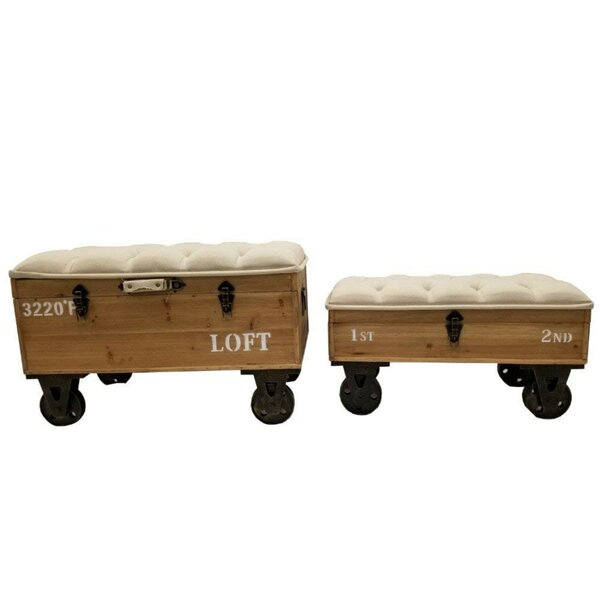 Tufted Storage Ottoman by The Urban Port