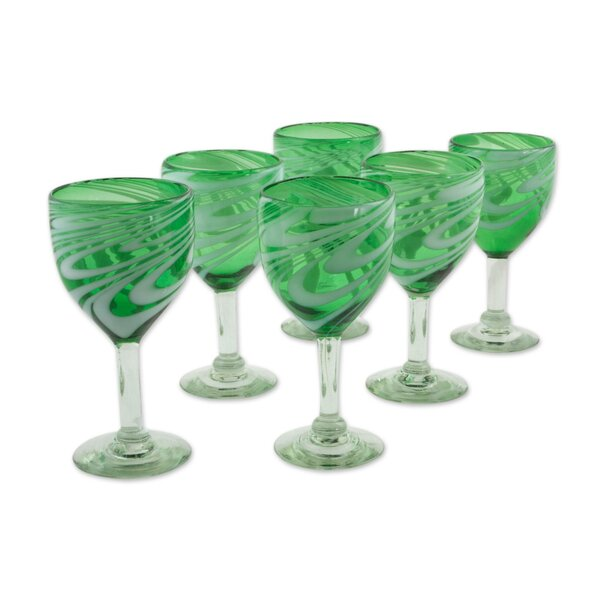 Glass 10 oz. All Purpose Goblet (Set of 6) by Novica