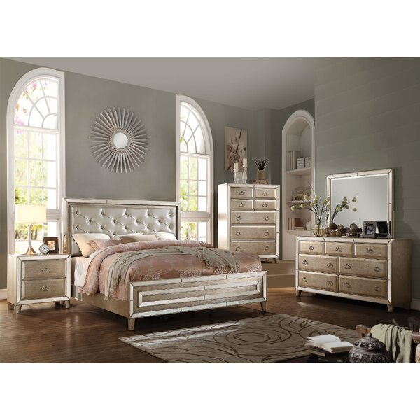 Caterina Mirrored Panel Configurable Bedroom Set by Rosdorf Park