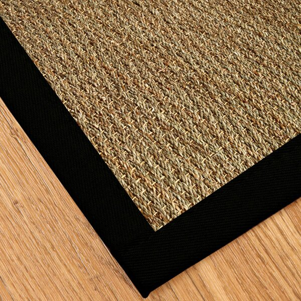 Alland Hand Woven Seagrass Brown Area Rug By Highland Dunes.
