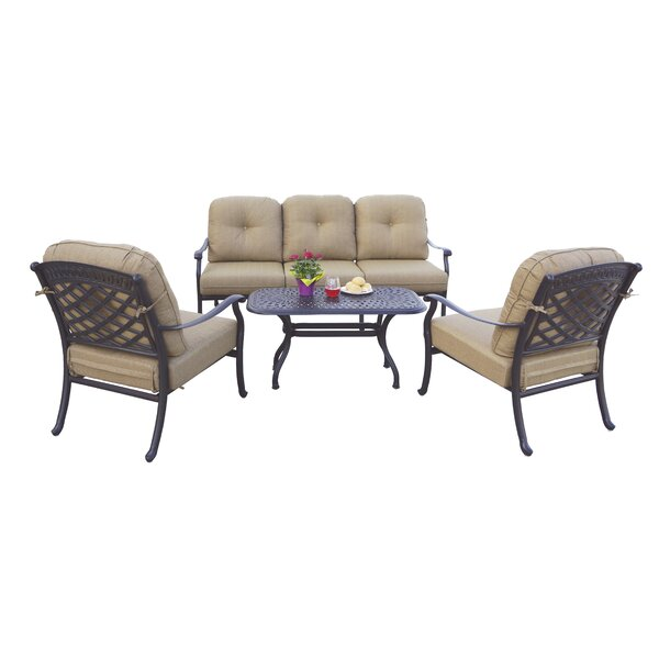 Thompson 4 Piece Sofa Set With Cushions By Alcott Hill by Alcott Hill Best #1