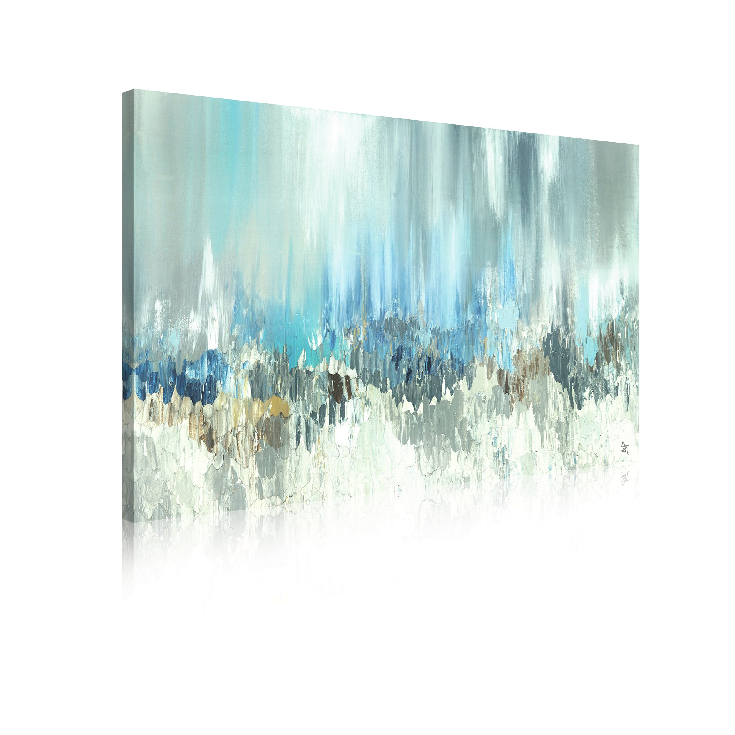 LARGE BEAUTIFUL FRAMED CANVAS GREY WHITE ZEN FLOWERS PAINTING PICTURE NEW PRINT