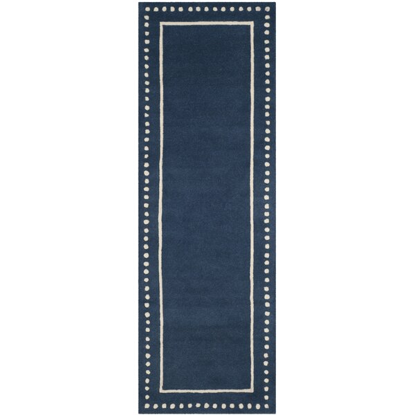 Amundson Hand-Tufted Navy Blue Indoor Area Rug by Charlton Home