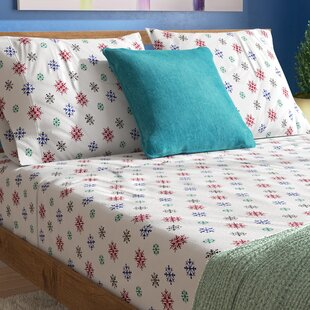 Godalming Heavy Weight Snow Flakes Printed Flannel Sheet Set By Latitude Run