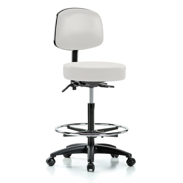 Gustav Height Adjustable Doctor Stool with Foot Ring