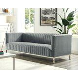 Winkleman Velvet 33 Tuxedo Arm Sofa by Orren Ellis