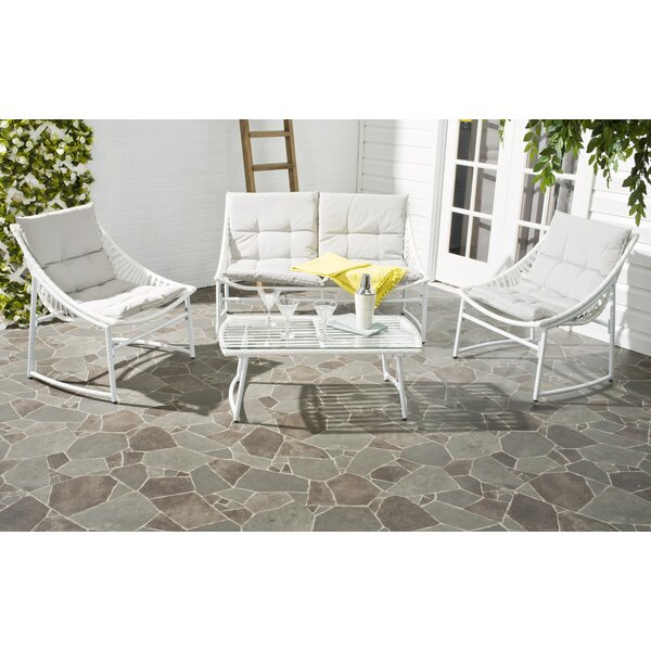 Johan 4 Piece Conversation Set with Cushions by Langley Street